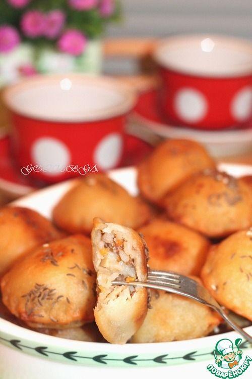 """Жареные пирожки """"Бомбочки"""" на кефире - кулинарный рецепт"""