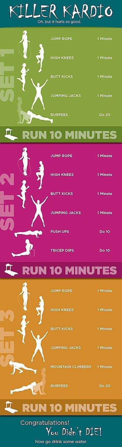 "Good starter if you're just getting into it. ""If you run after that is fine or jog in place for a couple minutes before you start each cycle"""