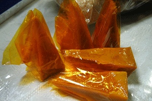 """what is a yema candy Yema is a custard candy that filipinos inherited during the spanish era """"yema"""" is a spanish word that means """"yolk"""" during the spanish colonial period years, egg whites and egg shells were used to build churches in the philippines."""
