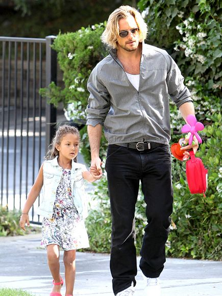 | Gabriel Aubry and Nahla (Halle Berry's daughter)