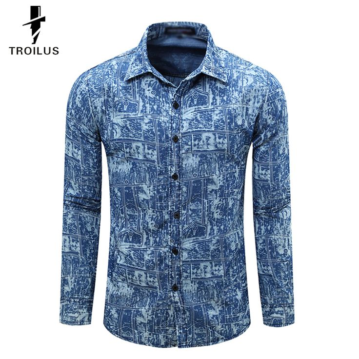 Find More Casual Shirts Information about Troilus Autumn 2016 New Print Mens Long sleeved Jeans Shirt Slim Fit Fashion Denim Shirt Men Famous Brand Camisa Jeans Masculina,High Quality shirt loose,China shirts velvet Suppliers, Cheap shirts military from Troilus Flagship Store on Aliexpress.com