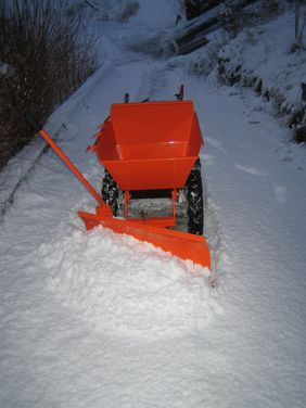 Snow plough ideal for use on snow an also for the removal of slurry on farms.