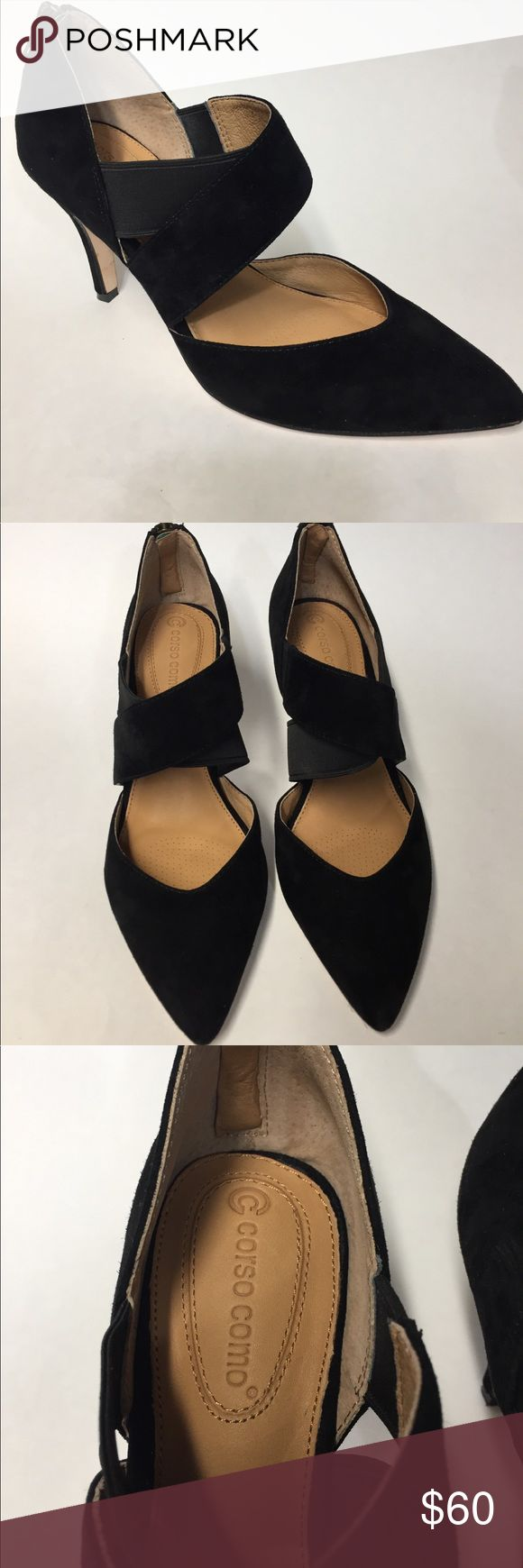 """( Corso Como ) Leathers Woman's pointed shoes Size 7M , Heels 3 1/2"""", Collette Suede Taupe , Back Zipper, good condition , worm once Corso Como Shoes Heels"""