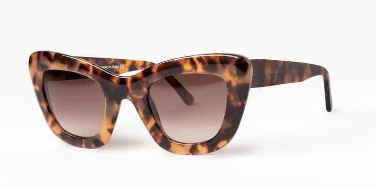 GLARE SUNGLASSES mod. LIDIA col. 008 havana. Design sunglasses completely handmade in Italy.