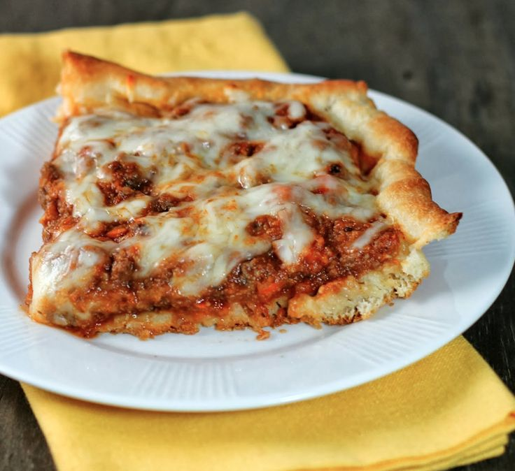 Weight Watcher's Deep-Dish Pizza Casserole. 6 points per serving.