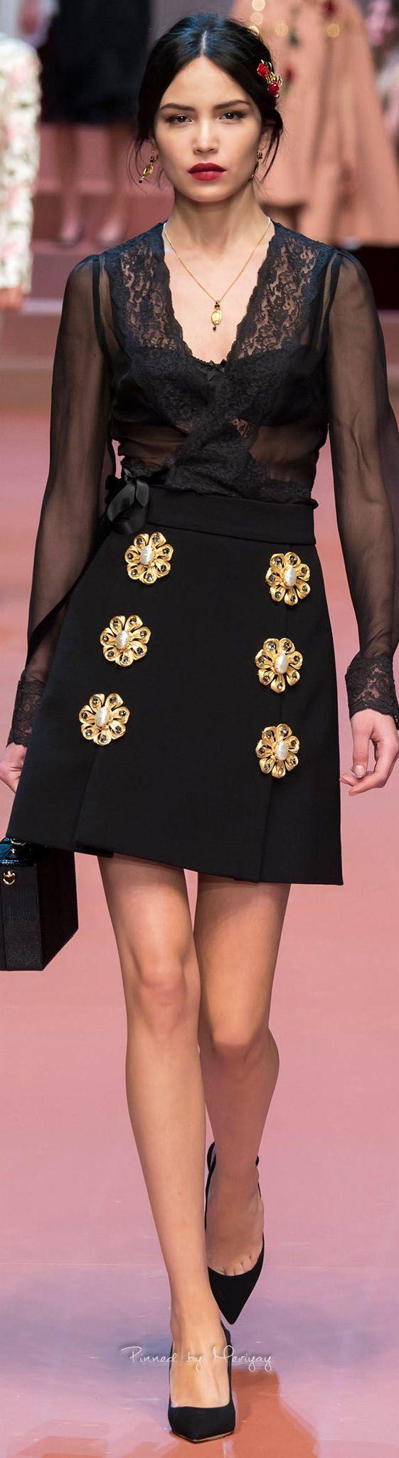 Dolce & Gabbana, fall 2015.