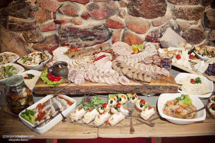 Catering 3kolory Stoły Wiejskie na Weselu