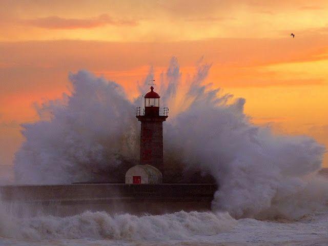 Fotos e palavras para sentir: Mar em fúria