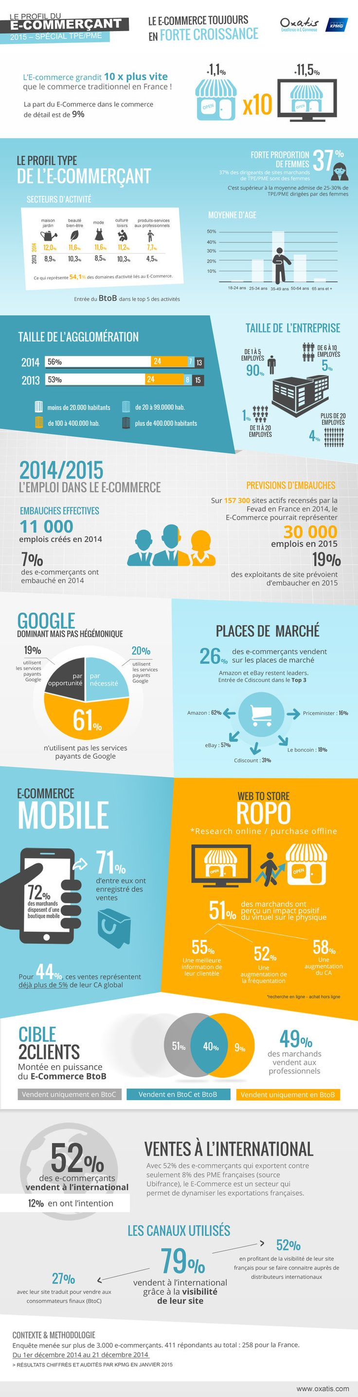 #infographie : le profil type du e-commerçant en 2015 #Ecommerce