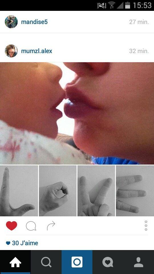 Message love enfant maternelle fête des pères ou fête des mères