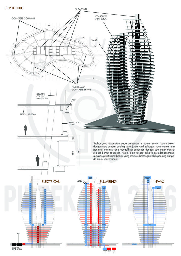 QU TOWER,THAMRIN 4/4_Prisca Winata_Arsitektur 2013