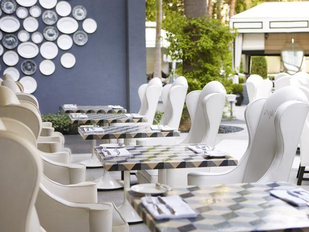 Viceroy Hotel Patio, Santa Monica, CA: Interior, Viceroy Santa, Coastal Hotel, Blue, Santa Monica, Outdoor, Restaurant, Design, Hotels