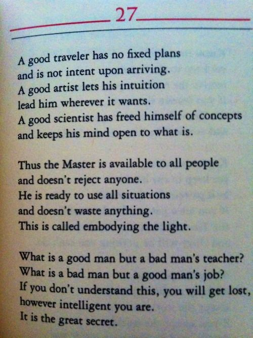 essays on the tao te ching Read this essay on tao te ching come browse our large digital warehouse of free sample essays get the knowledge you need in order to pass your classes and more.