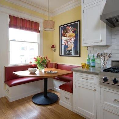 Retro Banquette - Eat-In Kitchen Ideas - 10 Space-Smart Designs - Bob Vila