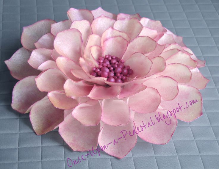 25 best ricewafer paper flowers images on pinterest wafer paper wafer paper flower tutorial another flower made from wafer paper mightylinksfo
