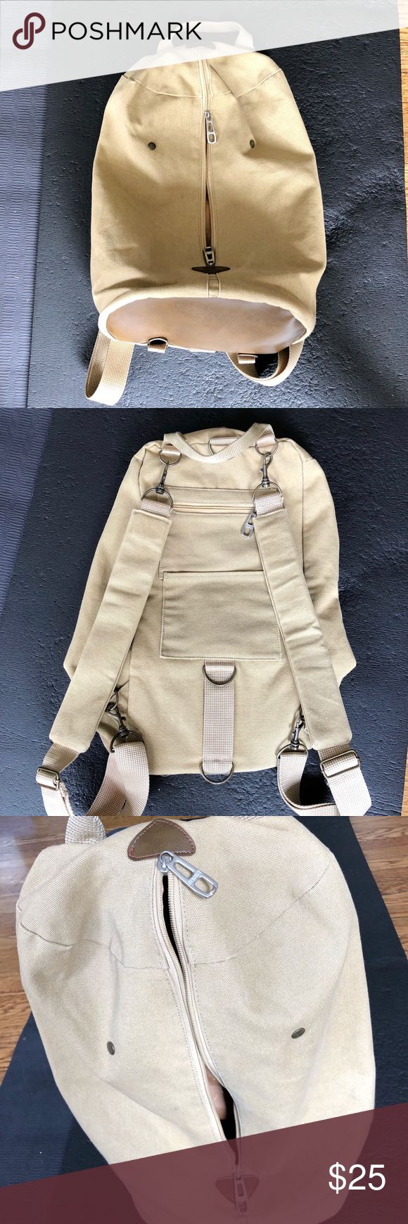 Vintage Marshal cotton Beige Backpack Vintage Marshal Beige Backpack  In great like new condition!  Can be adjusted to different style!  Pets and smoker free house! Bags Backpacks