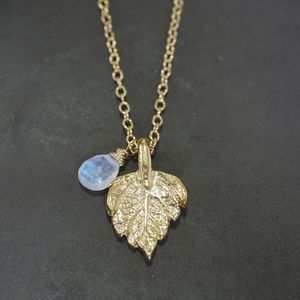Believe In Magic Rose Leaf Necklace