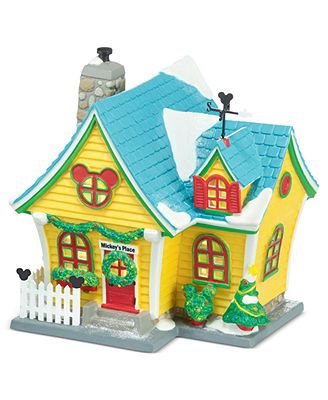 Department 56 Collectible Figurine, Mickey's Village Mickey's House
