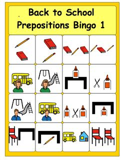 Back to School Bingo---free printable  - Pinned by @PediaStaff – Please Visit ht.ly/63sNtfor all our pediatric therapy pins