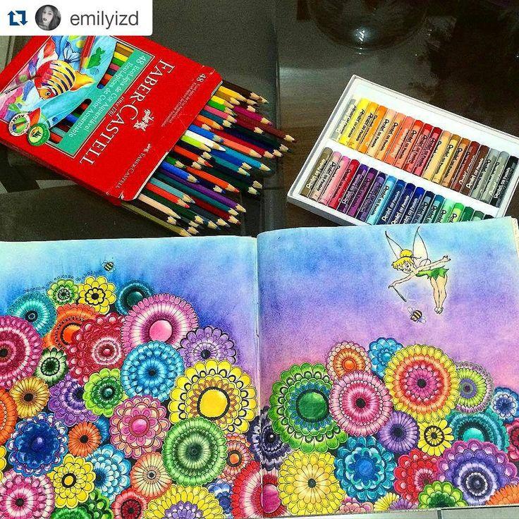 """""""Pintura com a cara da primavera! #Repost @emilyizd with @repostapp ・・・#desenhoscolorir À espera da estação mais colorida do ano  #secretgarden…"""""""
