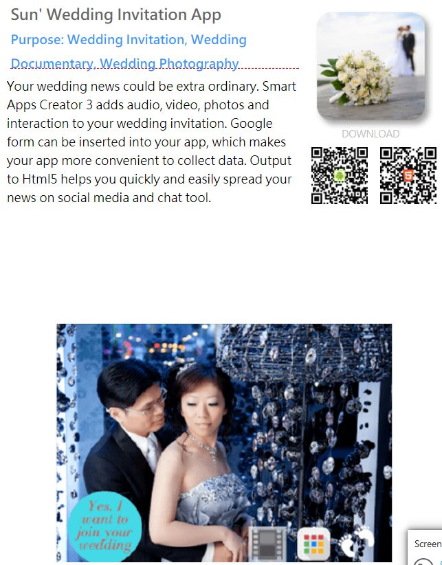 Wedding app, app tool, app design,