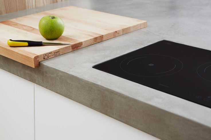 concrete kitchen surface - interiors design #microtopping  http://www.idealwork.com/Micro-Topping-Features-and-benefits.html
