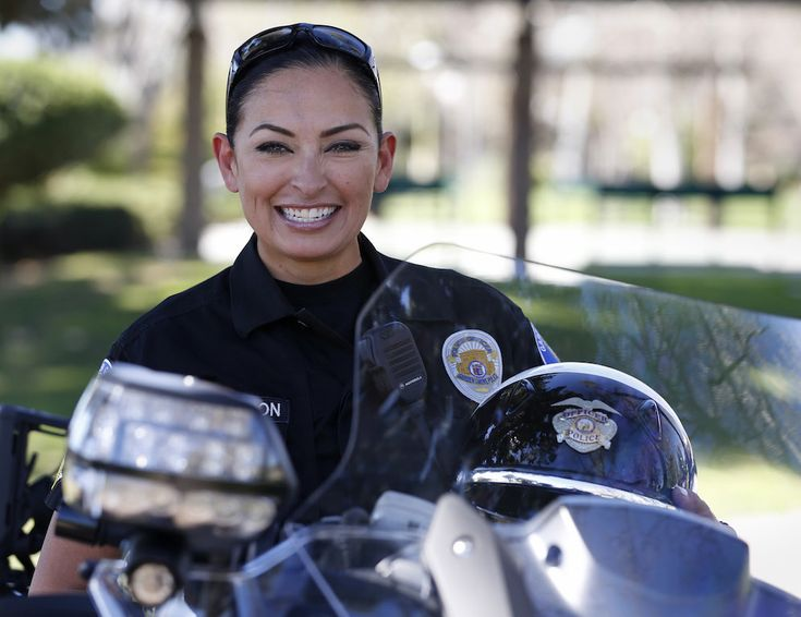 Garden Grove Police Department S Katherine Anderson Is In Her Third Tour Of Duty With Motorcycle Unit