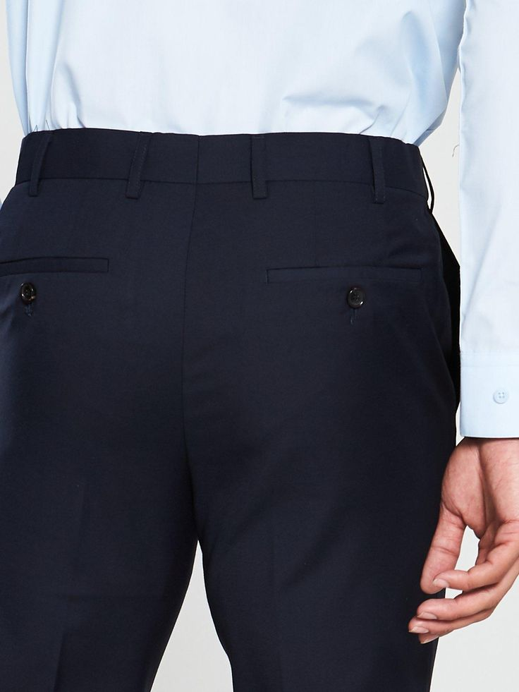 Skopes Farnham Suit Trousers – Navy, Navy, Size 44, Length Long, Men – Navy – 44, Length Long