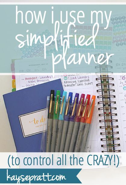 How I Use My Simplified Planner to Control ALL THE CRAZY! - Kayse Pratt