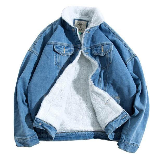 denim jeans jacket winter boogzel apparel outfit grunge