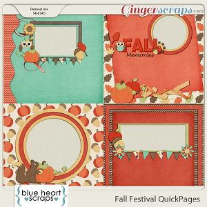 Fall Festival QuickPages by Blue Heart Scraps