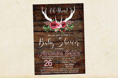 Oh Deer Baby Shower Invitation, Baby Shower Invitation, Deer Baby Shower Invitation, Boy Baby Shower, Girl Baby Shower, Instant Download