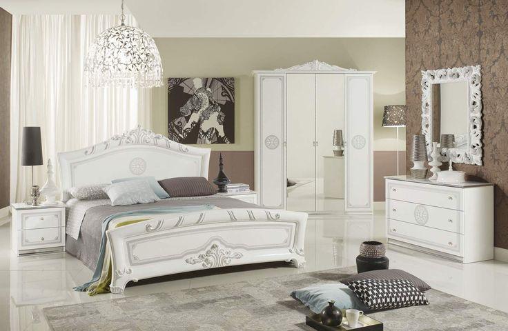 Έπιπλα Σπιτιού - Κλασικό Υπνοδωμάτιο GRATA WHITE σε βαφή λάκας