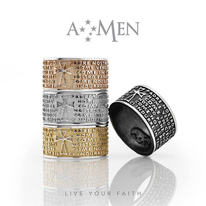 Gli anelli con il Padre nostro di Amen www.amencollection.com