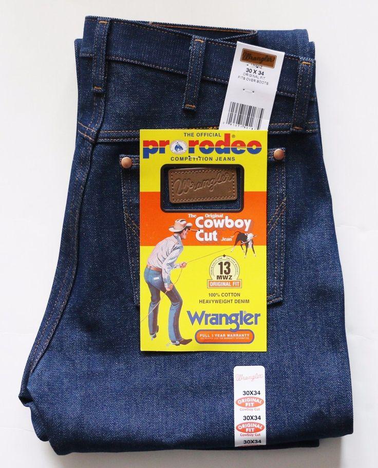 New Wrangler Cowboy Cut 13MWZ Original Fit Jeans Rigid Indigo Mens Sizes