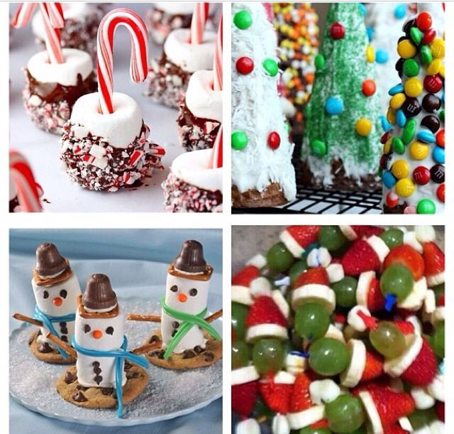 Christmas desserts - omg the grinch fruit!!!