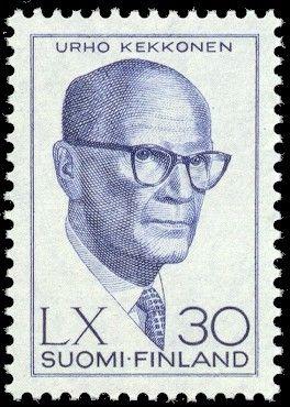Suomen presidentit postimerkeissä - Urho Kekkonen