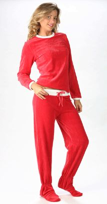 Adult foot pajama with separate top