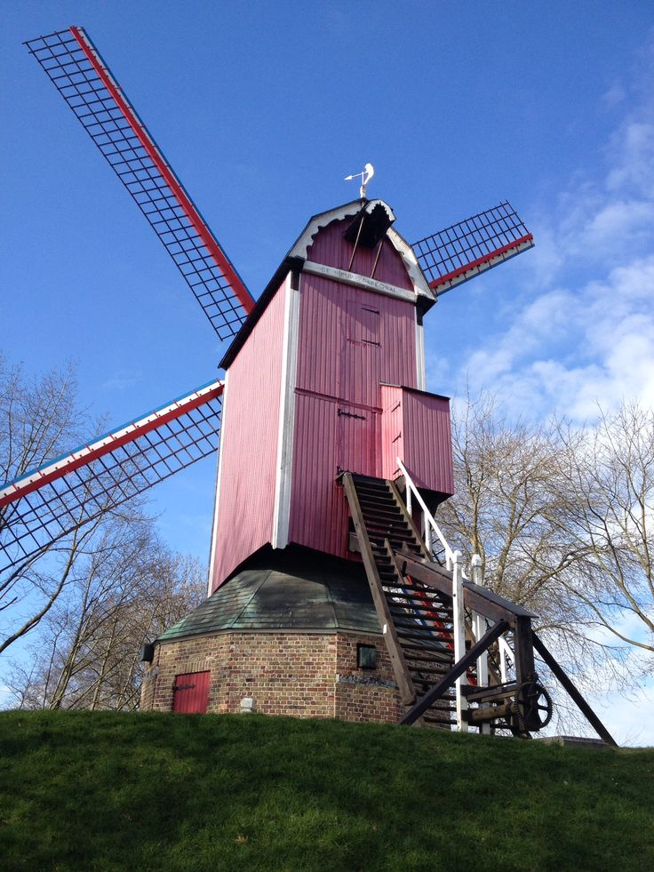 Pink windmill in Bruges                                                       …
