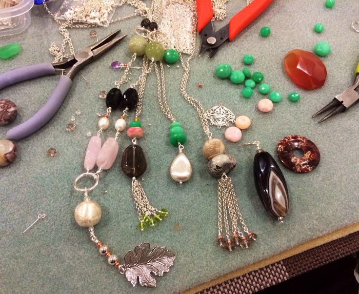 From mess and chaos to these babies! Long gemstone necklaces #design #unique #create #make #GGJewellery