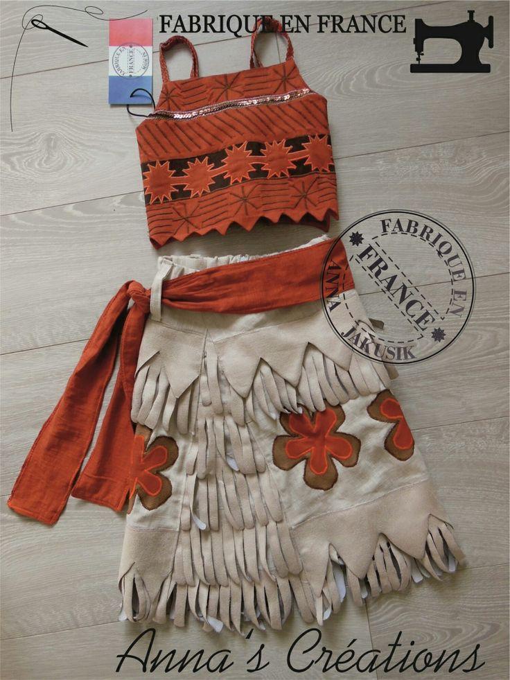 costume Vaiana Moana déguisement - piece de collection disney 5-6ans 110-116cm brodé : Mode filles par rose9999