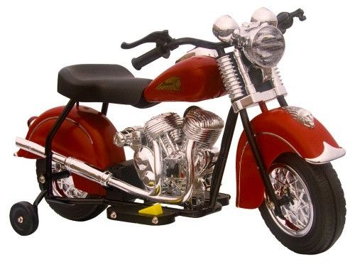 GiGGO Toys Little Vintage Indian Motorcycle Battery Powered Riding Toy - Battery Powered Riding Toys at Hayneedle