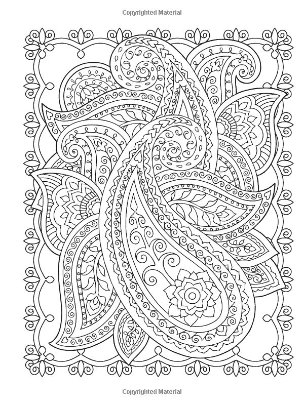 mehndi designs coloring book pages - photo#4