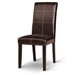 Jedálenská stolička RORY, tmavý orech/ekokoža tmavo hnedá