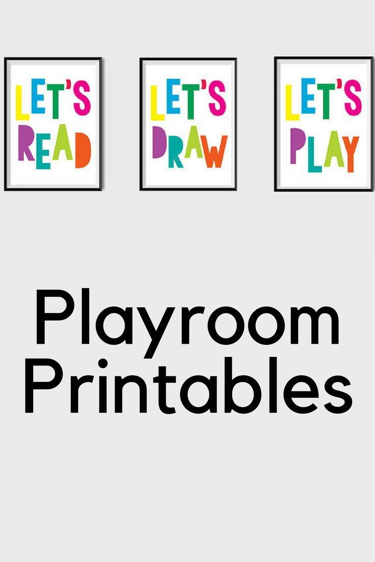 Playroom Printables Instant Download, all 3 files.  Cute for a kids playroom or daycare room.