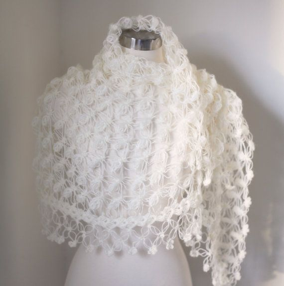 Crochet Lace Wedding Shawl Pattern : Wedding Capelet, Bridal Cape, Bridal Bolero, Bridal Shrug ...