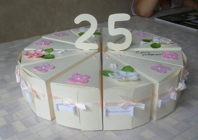 Мое рукоделие: Бумажный торт на юбилей