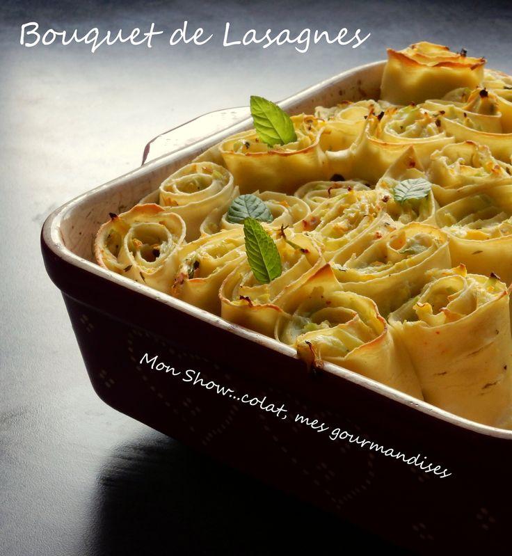Après les traditionnelles Lasagnes à la Bolognaise ou les gourmandes Lasagnes aux Légumes, je vous propose aujourd'hui une version de lasagnes revisitées de part leur présentation. Roulées et tranchées, elles se font une petite beauté pour être présentées...