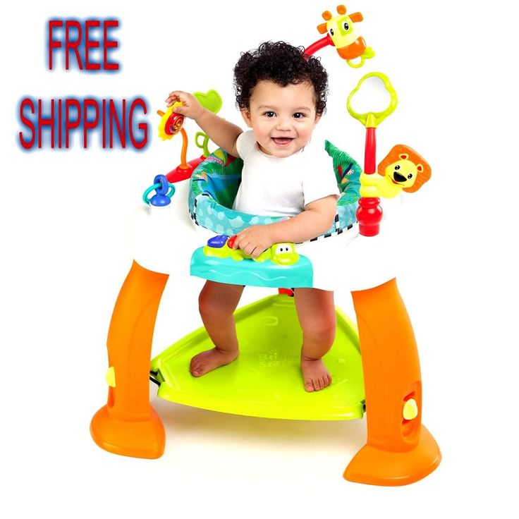 Baby Activity Jumper Adjustable Bouncer Center Seat Toy Toddler Fun Rotates 360 #BrightStarts
