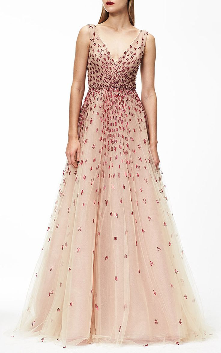 Monique Lhuillier Embroidered Degrade Ball Gown by Monique Lhuillier for Preorder on Moda Operandi